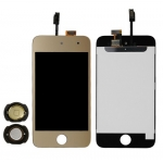 Gold LCD Touch Digitizer Screen Assembly replacement for iPod Touch 4