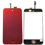 Plated Red LCD Touch Digitizer Screen Assembly replacement for iPod Touch 4