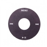 Click Wheel Cover Black replacement for iPod Video