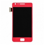 LCD with Touch Screen Digitizer Assembly replacement for Samsung Galaxy S2 i9100 Red