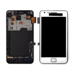LCD Assembly with Frame replacement for Samsung Galaxy S2 i9100 White