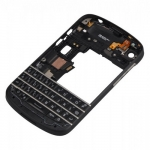 Middle Frame with Keypad Black replacement for BlackBerry Q10