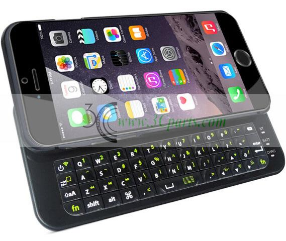 "Slide-out Wireless Bluetooth Keyboard for iPhone 6 4.7"" Black"