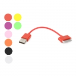 8cm Colorful Round USB Data Sync Charger Cable for iPhone 4 4S iPad iPod