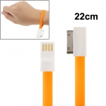 22cm Pure Color Noodle Bracelet Style Magnet USB to Dock Cable for iPhone 4 4S iPad iPod