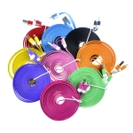 Two-Color Flat Noodle USB Sync Data and Charging Cable for iPhone 5 iPad 4 iPad Mini iPod Touch 5 Na...