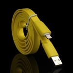 Colorful Flat Noodle USB Data Sync Charger Cable for iPhone 6 & 6 Plus, iPhone 5 & 5S & 5C, iPad Air