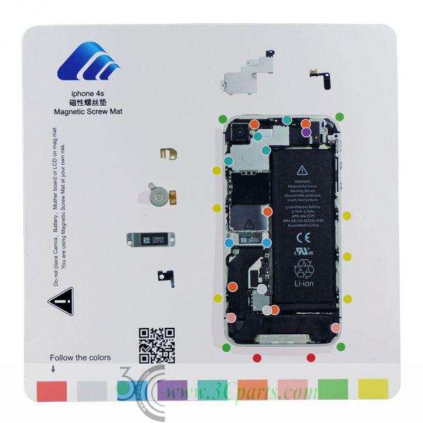 Magnetic Screw Chart Mat Technician Repair Pad Guide for iPhone 4s