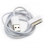 High Quality White Round USB Data Sync Charger Cable for iPhone 4 4S iPad iPod