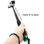 Handheld Extendable Pole Monopod with Screw for GoPro Hero, Max Length: 49cm​