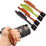 Genuine Leather DSLR Hand Grip Strap With Metal Quick Release Plate​