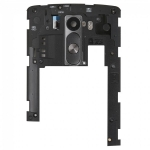 Camera Lens and Cover with Rear Button replacement for LG G3 D850 D855 LS990 Black White