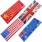 Flag Pattern Silicone Keyboard Protector Film for Macbook Air Pro Retina 11.6 13.3 15.4 inch