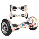 10 inch Graffiti Two Wheels Balance Board Unicycle Scooter Hover Board
