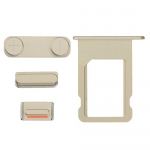 Side Buttons and Sim Card Tray Replacement for iPhone 5S/SE Gold