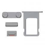 Side Buttons and Sim Card Tray Replacement for iPhone 5S/SE Grey