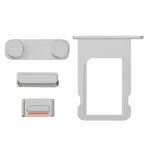 Side Buttons and Sim Card Tray Replacement for iPhone 5S/SE Silver