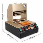 Automatic Frame Laminator Machine built-in vacuum pump air compressor for iPhone Bezel Frame Molds