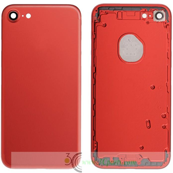 Red Back Cover Replacement for iPhone 7