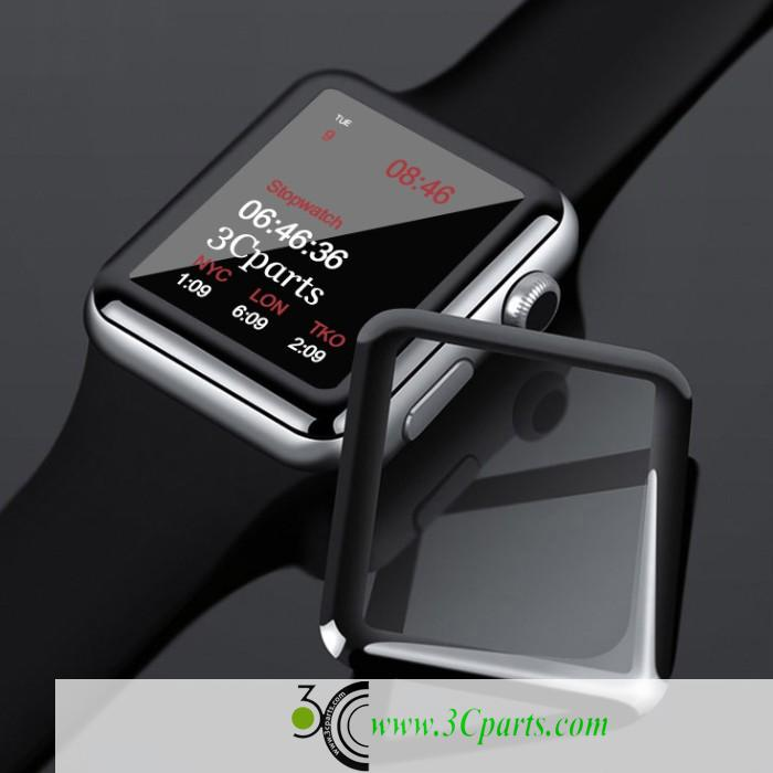 3D Curved edge to edge Tempered Glass Protective Film For Apple Watch Series 1 2 3 Full Screen Protector Cover
