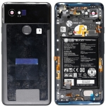 Battery Door with Rear Housing Full Assembly Replacement for Google Pixel 2 XL